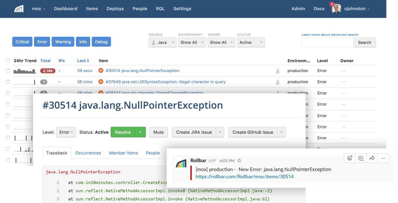 java error monitoring tools